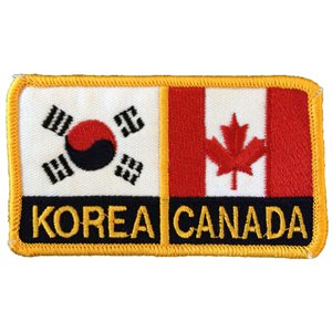 Canada and Korean flag crest