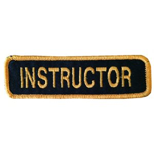 Écusson Instructeur (Anglais)