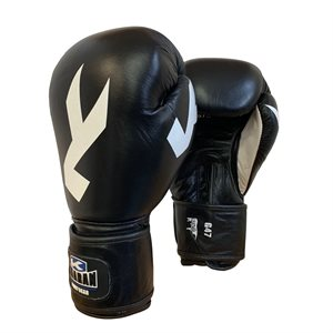 Leather boxing gloves tight wrist